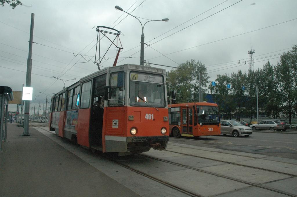 трамвайного маршрута в